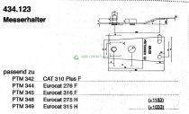 Pöttinger CAT Eurocat fűkasza késtartó