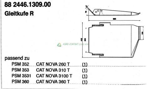 Pöttinger CAT Nova vont. csúszótalp