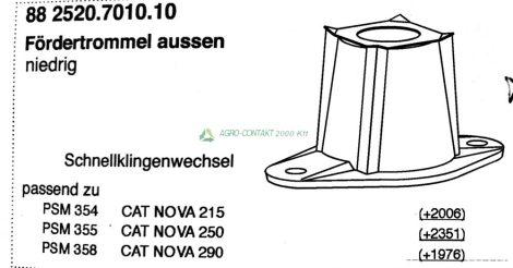 Pöttinger CAT nova fűkasza szélső dob