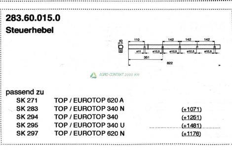 Pöttinger Top Eurotop rugótartó kar