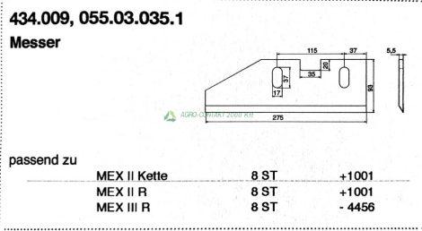 Pöttinger Mex silózó kés