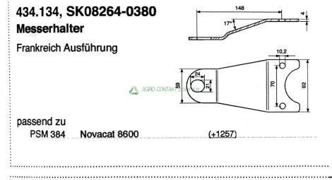 Pöttinger Novacat fűkasza késtartó
